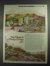 1968 Phelps Dodge Ad - San Diego - $14.99