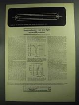 1968 Philips Research Laboratories Ad - Semiconductors - $14.99