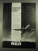 1968 RCA AVQ-30 Radar Ad - Delay Out of Departures - $14.99