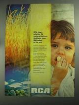 1968 RCA Satellite TV Camera Ad - Find Food - $14.99