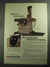 1968 Signode Model HSMD 300 Automatic Strapping Ad - $14.99