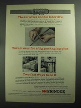 1968 Signode Ad - VFD Tool, MD300, MD310 Strapping - $14.99