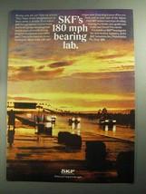 1968 SKF Bearings Ad - 180 mph Bearing Lab - $14.99