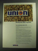 1968 Union 76 Oil Ad - Strong New Sign of Growth - $14.99