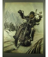 1981 David Mann Illustration - Snow Ride - $14.99