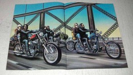 1982 David Mann Illustration - Bridge - $14.99