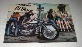 1982 David Mann Illustration - Pit Crew - $14.99