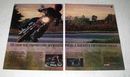 1982 Harley-Davidson Sportster Motorcycle Ad - Angle - $14.99