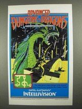 1983 Intellivision Dungeons & Dragons Video Game Ad - $14.99