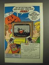 1983 Mattel Electronics Kool-Aid Man Video Game Ad - Exciting - $14.99