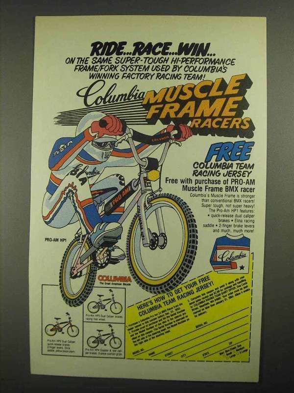 1984 Columbia Pro-AM HP1 Bicycle Ad - Ride Race Win - $14.99