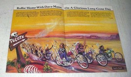 1984 David Mann Illustration - Rollin' Home Tecote Run - $14.99