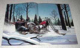 1984 David Mann Illustration - Snow Motorcycle Sled - $14.99