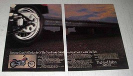 1984 Harley-Davidson FXST Softail Motorcycle Ad - $14.99