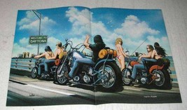 1984 David Mann Illustration - Welcome To Daytona - $14.99