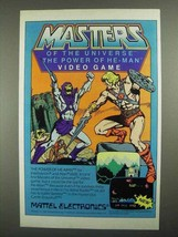 1984 Mattel Masters of the Universe Video Game Ad - $14.99
