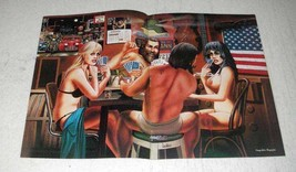 1985 David Mann Illustration - Strip Poker - $14.99