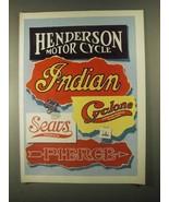 1993 David Mann Illustration - Indian Cyclone Sears - $14.99