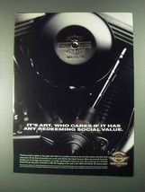 1996 Harley-Davidson Genuine Motor Accessories Ad - Art - $14.99