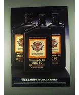 1996 Harley-Davidson Motorcycle Oil Ad - Buy 9 Quarts - $14.99