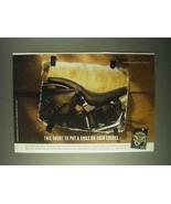1999 Harley-Davidson Softail Snakeskin Seat Ad - $14.99