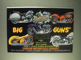 1999 Samson Exhaust Ad - Big Guns - $14.99