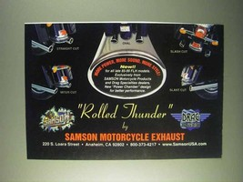 1999 Samson Exhaust Rolled Thunder Ad - $14.99