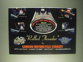 1999 Samson Exhaust Rolled Thunder Ad - $14.99