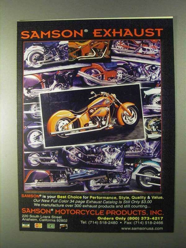Primary image for 1999 Samson Exhaust Systems Ad