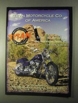 1999 Titan Motorcycles Ad - Best of American Twins - $14.99