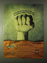 1999 Titan Motorcycles Ad - Seen This Hand in Bar Fight - $14.99