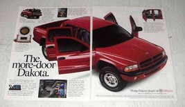 2000 Dodge Dakota Quad Cab Pickup Truck Ad - More-Door - $14.99