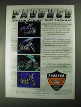 2001 Paughco Frames and Exhaust Ad - $14.99