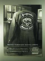 2001 Progressive Motorcycle Insurance Ad - America's #1 Insurance - $14.99
