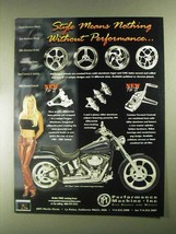 2001 Performance Machine Motorcycle Parts Ad - Style - $14.99