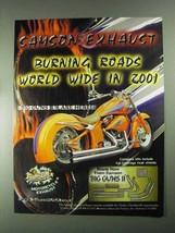 2001 Samson Exhaust Big Guns II Ad - Burning Roads - $14.99