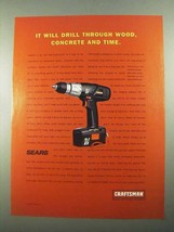 2003 Craftsman EX Cordless Drill Ad - Wood, Concrete - $14.99