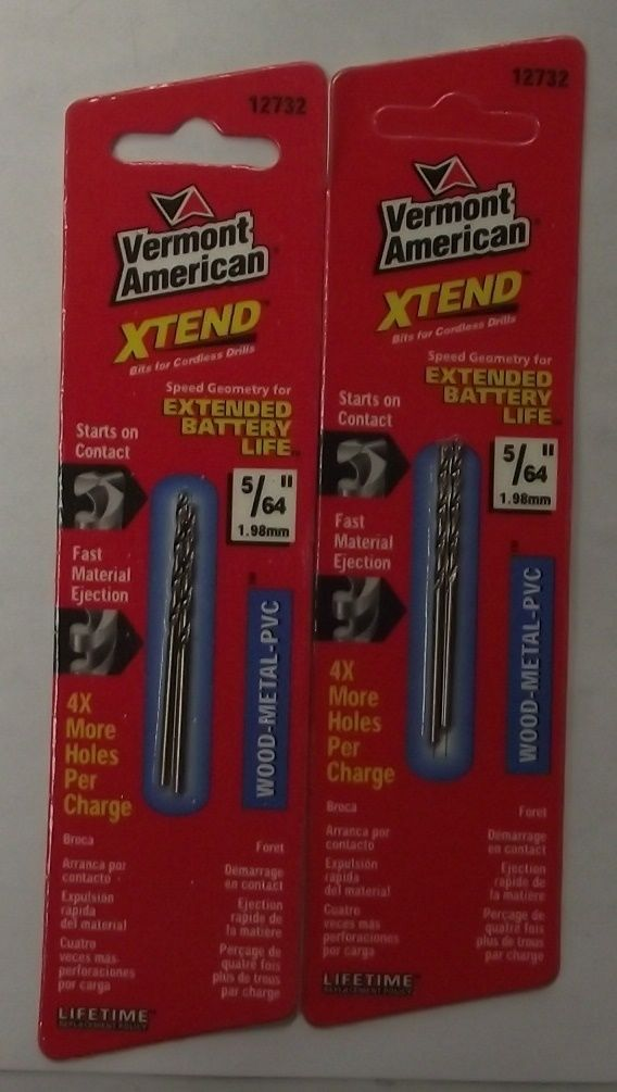"Primary image for Vermont American 12732 5/64"" x 2"" XTEND Fractional Drill Bit 2-2pks"