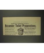 1892 Harriet Hubbard Ayer Recamier Preparations Ad - $14.99