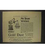 1892 Gold Dust Washing Powder Ad - No Sane Woman - $14.99