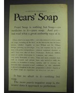 1892 Pears Soap Ad - No Medicine In It Pure Soap - $14.99