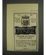 1892 Higgins & Seiter Cracker Jar Ad - $14.99