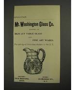 1892 Mt. Washington Glass Co. Ad - $14.99