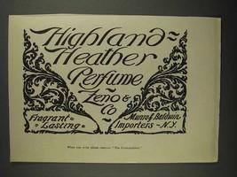 1892 Zeno & Co. Highland Heather Perfume Ad - $14.99