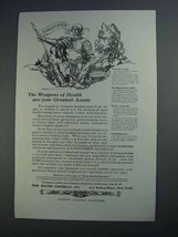1913 Bauer Chemical Sanatogen Ad - Weapons of Health - $14.99