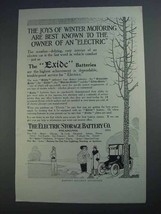 1913 Electric Storage Battery Exide Batteries Ad - $14.99