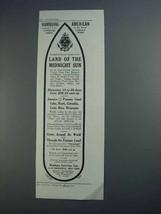 1913 Hamburg-American Line Ad - Midnight Sun - $14.99