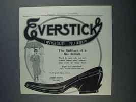 1913 Everstick Invisible Rubber Shoe Ad - A Gentleman - $14.99