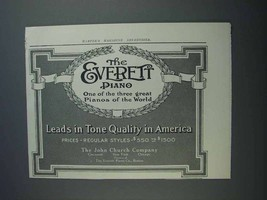 1913 Everett Piano Ad - Leads in Tone Quality - $14.99