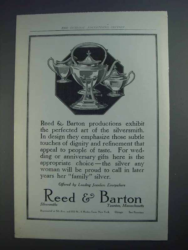 1913 Reed & Barton Silver Ad - Perfected Art